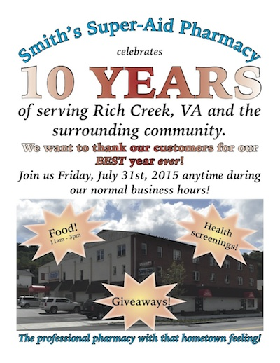 2015 Smith's Super-Aid 10th Celebration Flyer