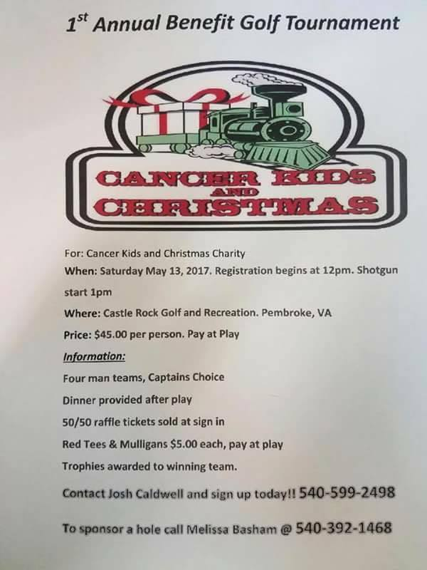 2017 Cancer Kids and Christmas Golf Tournament flyer