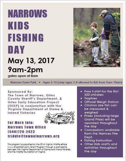 2017 Narrows Kid's Fishing Day flyer