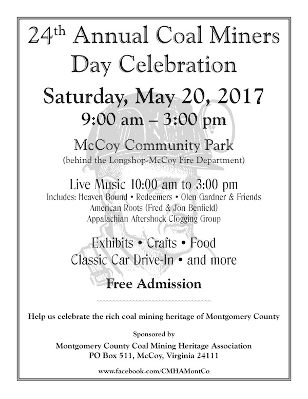 2017 Coal Miners Day flyer