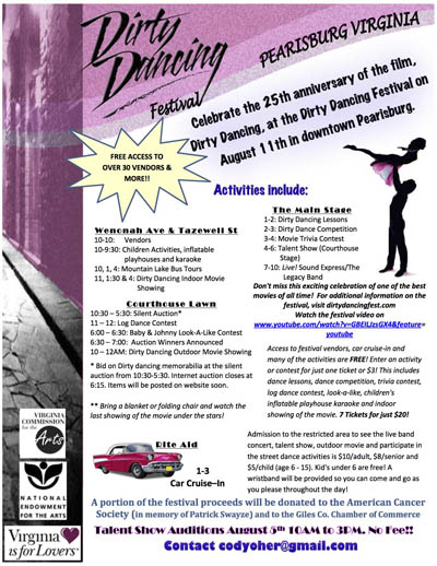 Flyer for Dirty Dancing Festival