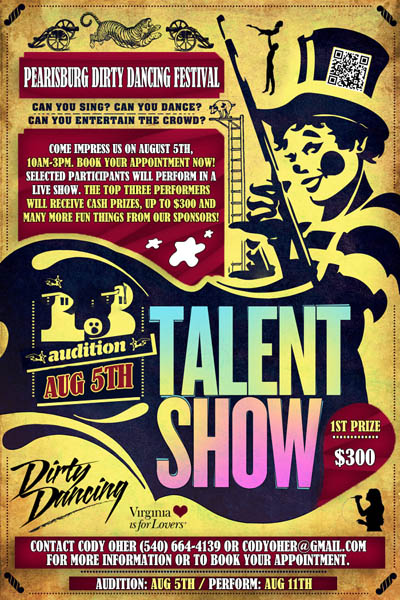 Flyer for Dirty Dancing Festival Talent Show