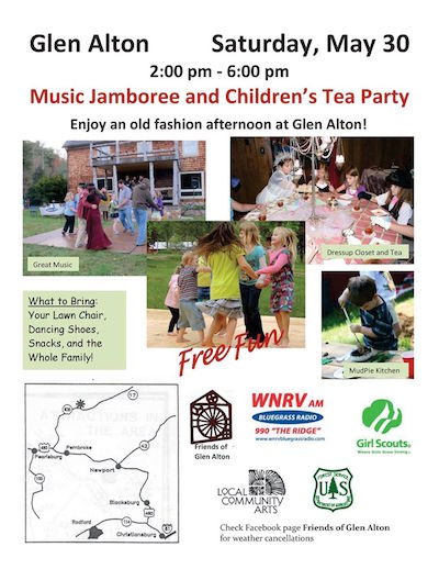 Flyer: 2015 Glen Alton Jamboree and Children's Tea Party