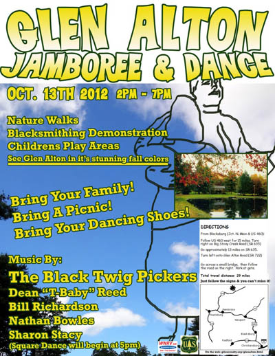 Glen Alton Oct 2012 Jamboree & Dance Flyer