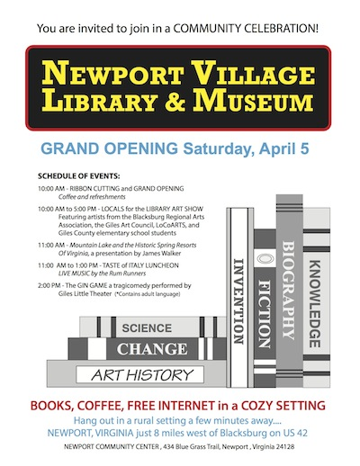 Newport Library Flyer Apr 2014